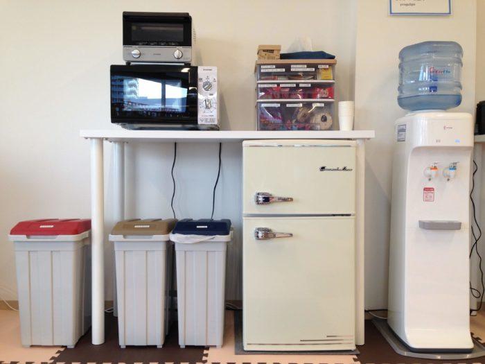 ウォーターサーバー、冷蔵庫、電子レンジ、wifiなど
