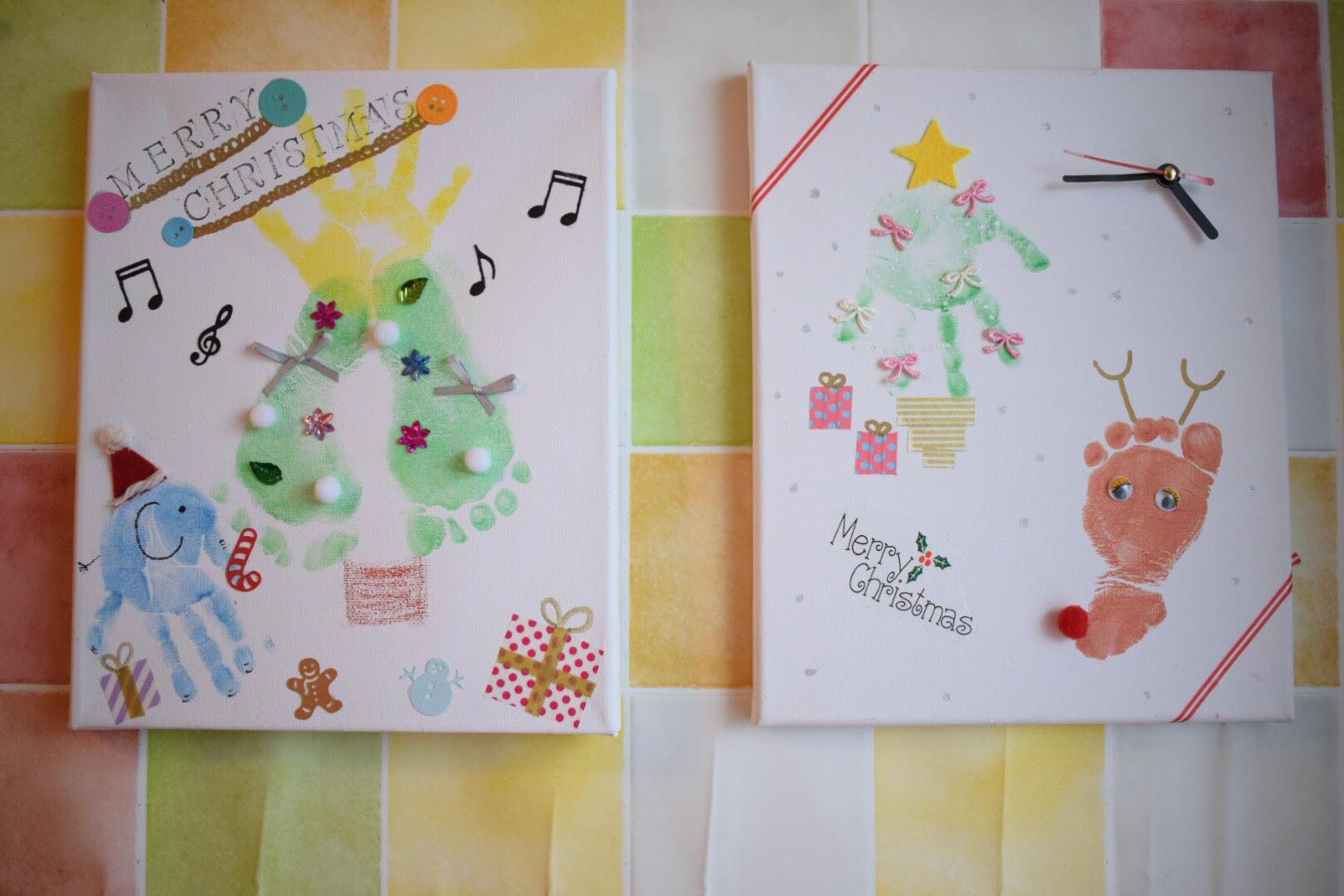 手形足形アートクリスマスデザイン